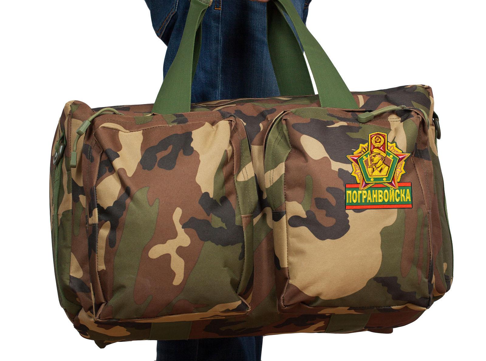 Военная дорожная сумка с нашивкой Погранвойска - купить с доставкой