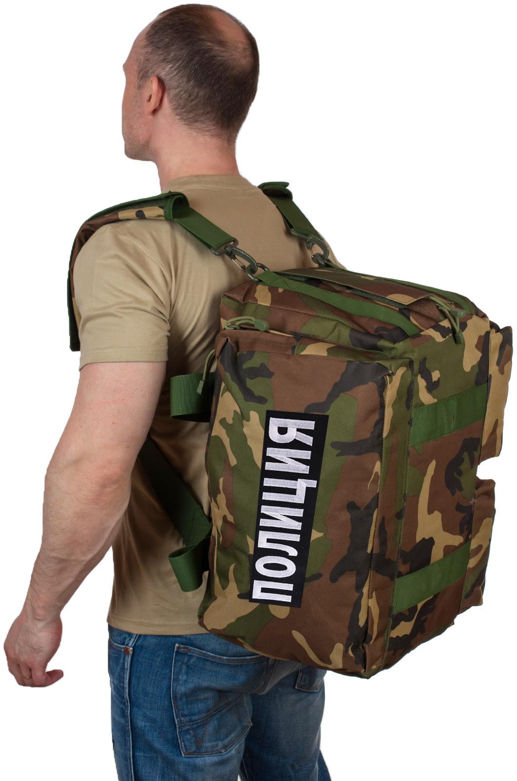 Купить военную дорожную сумку с нашивкой Полиция по низкой цене