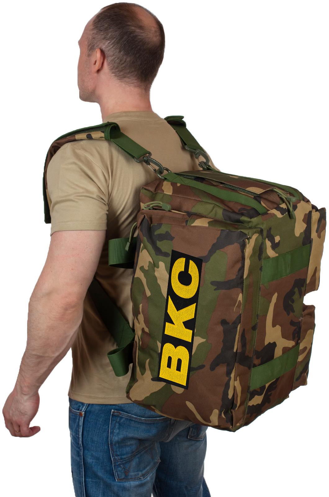 Купить военную дорожную сумку с нашивкой ВКС по выгодной цене