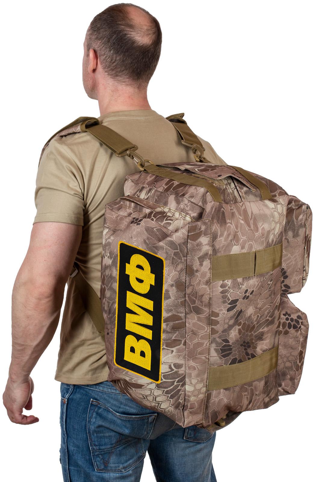 Купить военную дорожную сумку ВМФ (камуфляж Kryptek Nomad) по выгодной цене онлайн