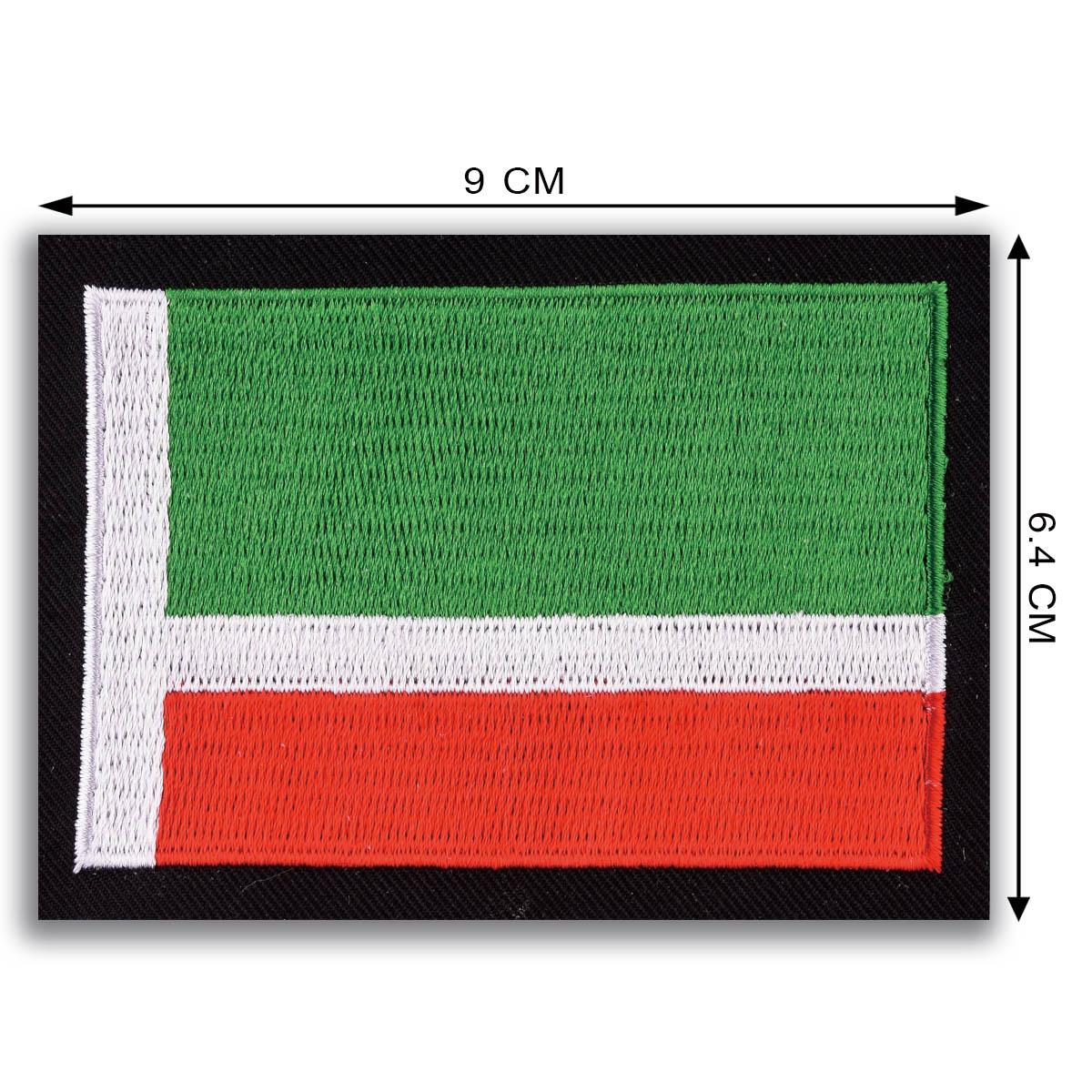 Мужская военная футболка с флагом Чечни