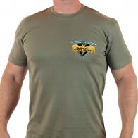 Военная футболка для разведчика с девизом.