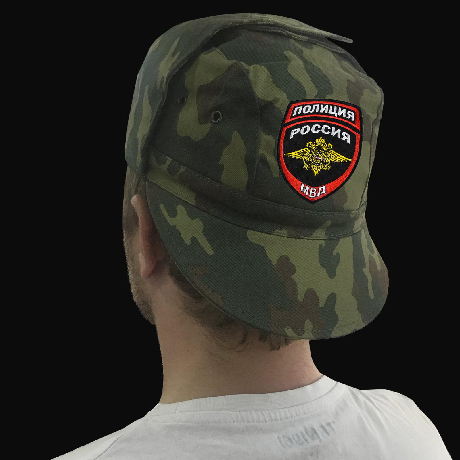 Уставные кепки камуфляж с шевронами «МВД, Полиция России»