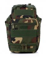 Военная сумка через плечо с поясным креплением