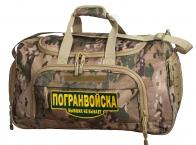 Военная тревожная сумка 08032B Multicam с нашивкой Погранвойска