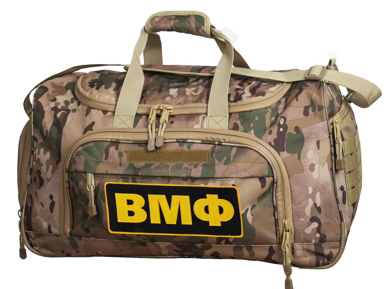Военная тревожная сумка 08032B Multicam с нашивкой ВМФ