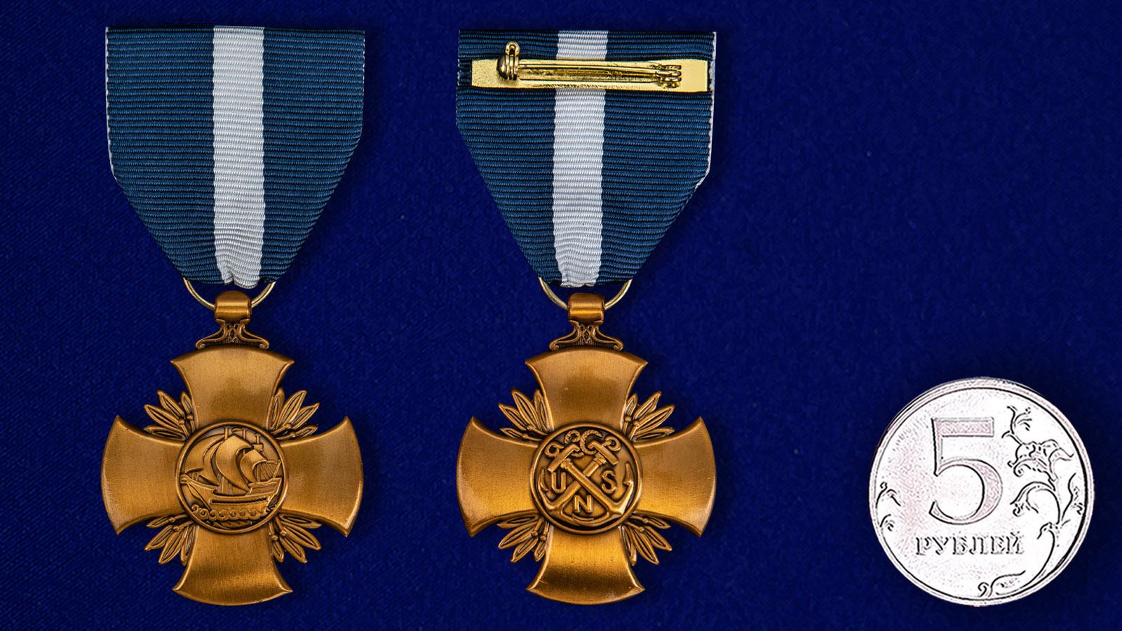 Военно-морской крест (США) - сравнительный размер