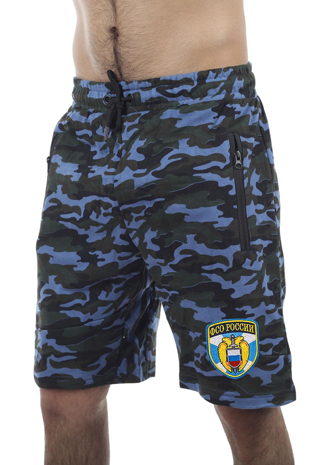 Купить военные камуфляжные шорты с нашивкой ФСО в подарок мужчине