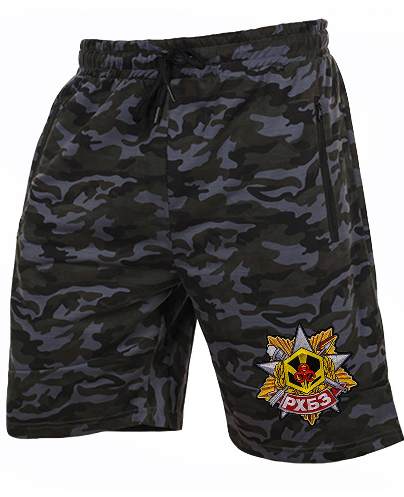 Военные камуфляжные шорты с нашивкой РХБЗ