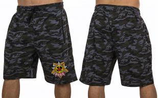 Военные камуфляжные шорты с нашивкой РХБЗ - заказать в подарок