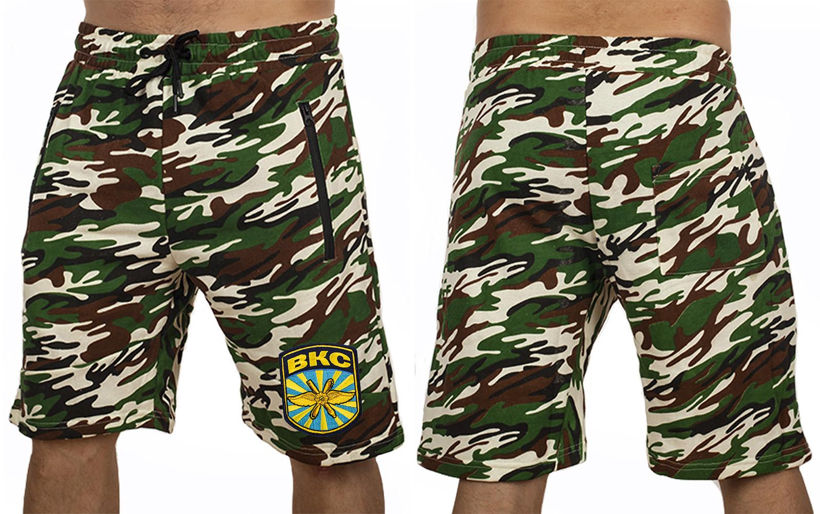 Военные камуфляжные шорты с нашивкой ВКС - купить в Военпро