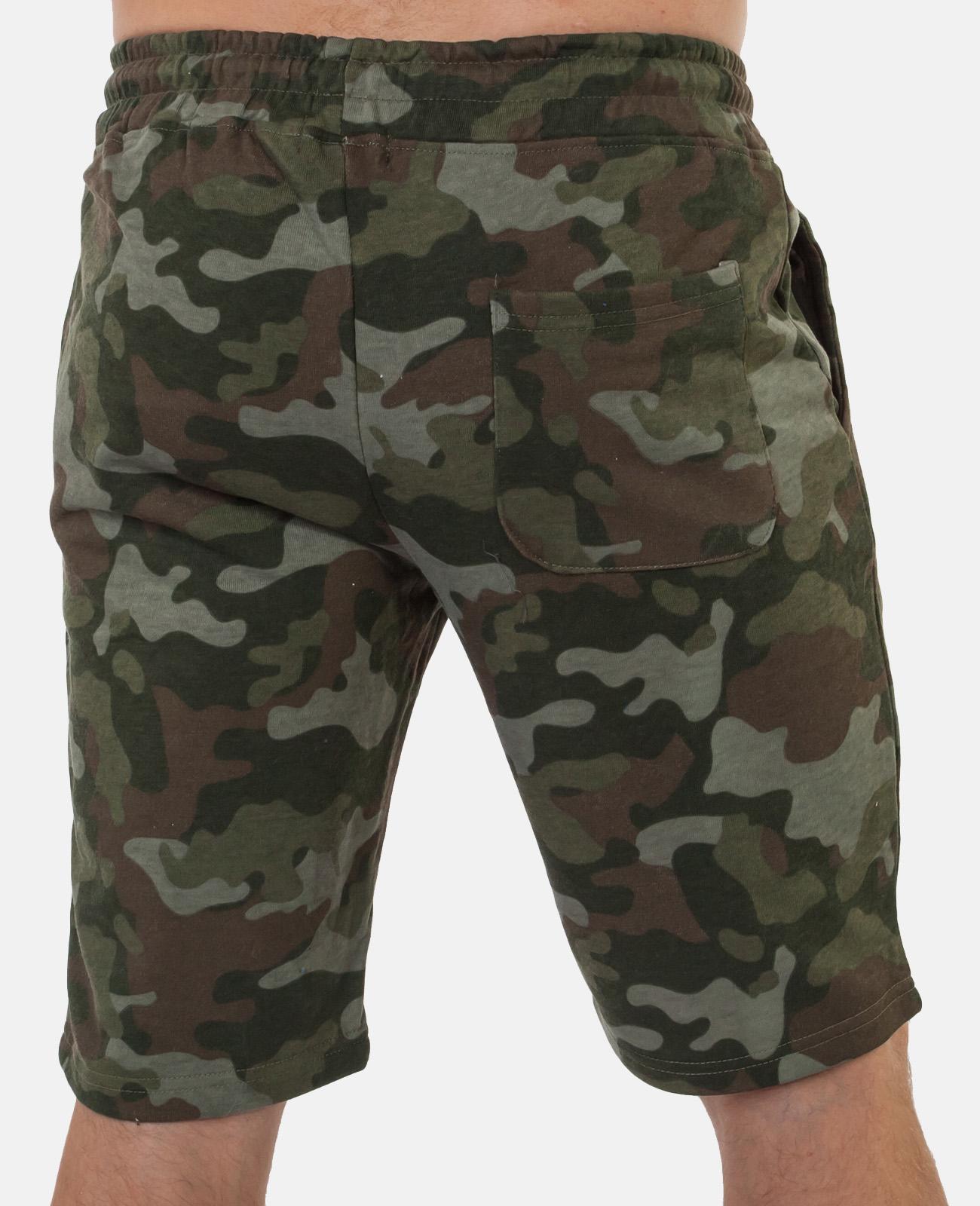 Купить военные милитари шорты с нашивкой Россия оптом или в розницу