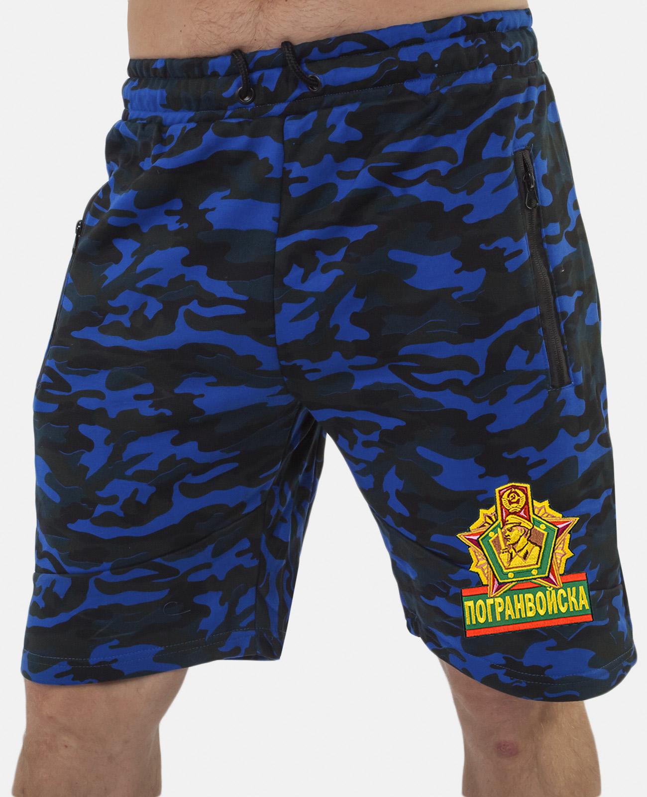 Купить военные удлиненные шорты с нашивкой Погранвойска по экономичной цене