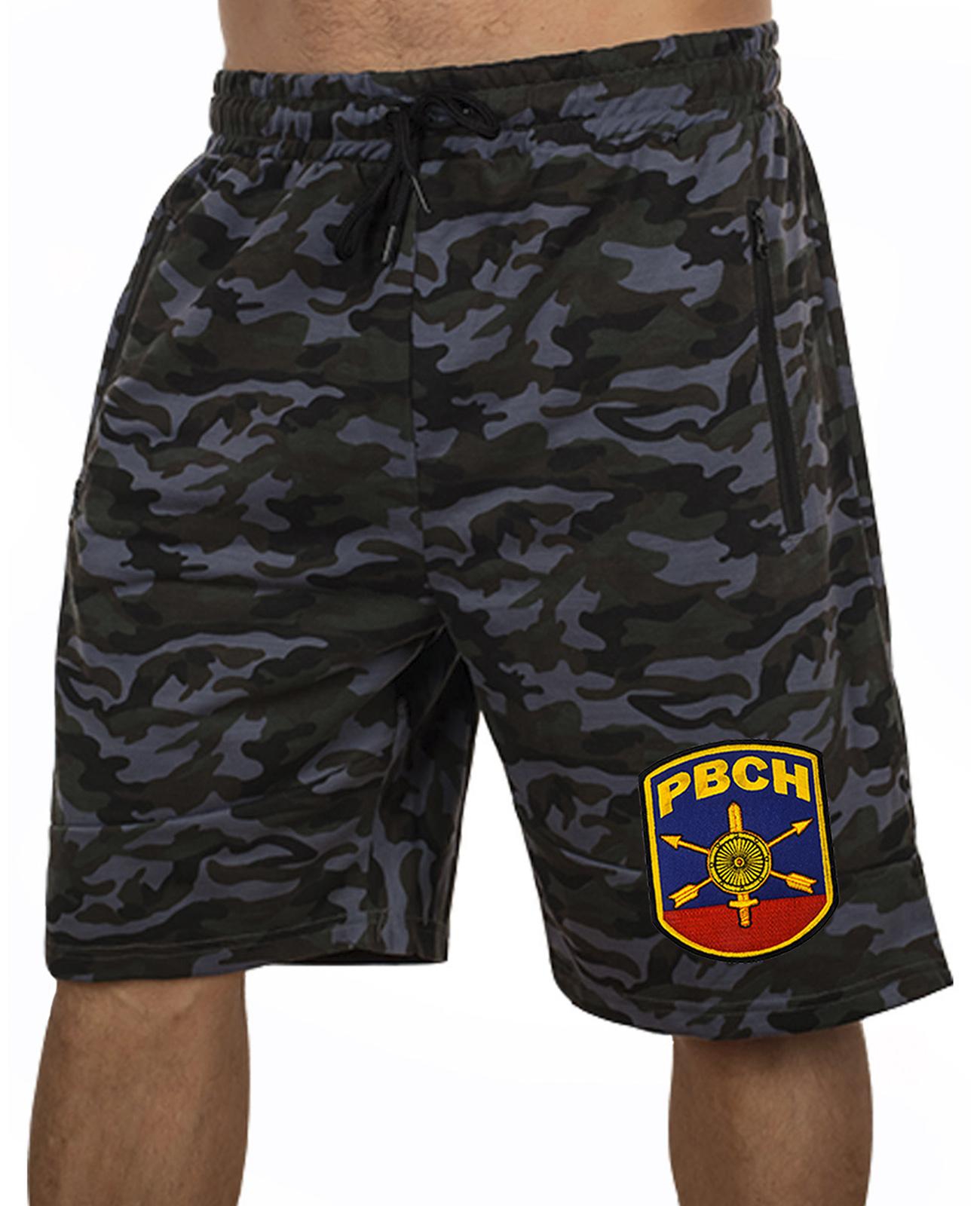 Купить военные удлиненные шорты с нашивкой РВСН  оптом или в розницу