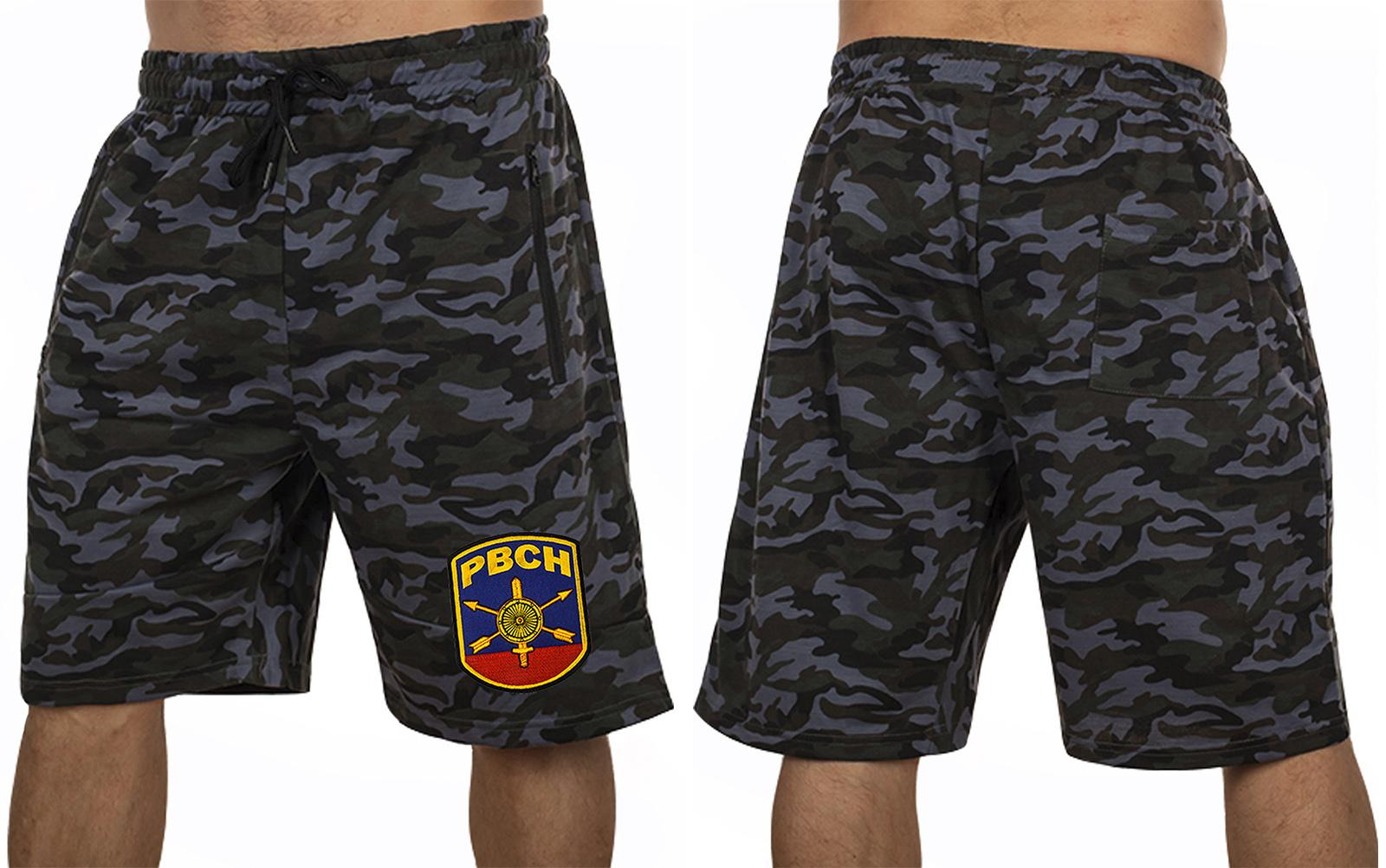 Военные удлиненные шорты с нашивкой РВСН - купить в подарок