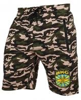 Военные удлиненные шорты с нашивкой ВКС