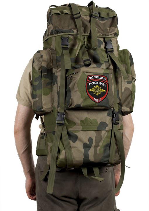Военный большой рюкзак с нашивкой Полиция России