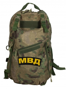 Военный камуфляжный рюкзак с нашивкой МВД - заказать в подарок