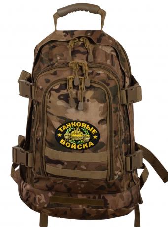 Военный рюкзак 3-Day Expandable Backpack 08002B с нашивкой Танковых войск