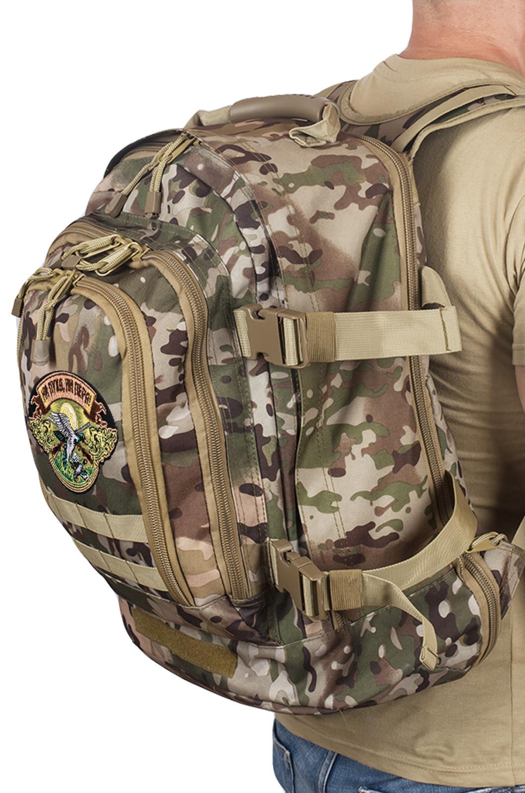 Камуфляжный рюкзак для охотника с нашивкой Ни Пуха ни Пера - купить с доставкой
