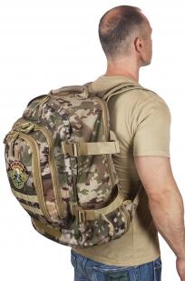 Камуфляжный рюкзак для охотника с нашивкой Ни Пуха ни Пера - купить онлайн