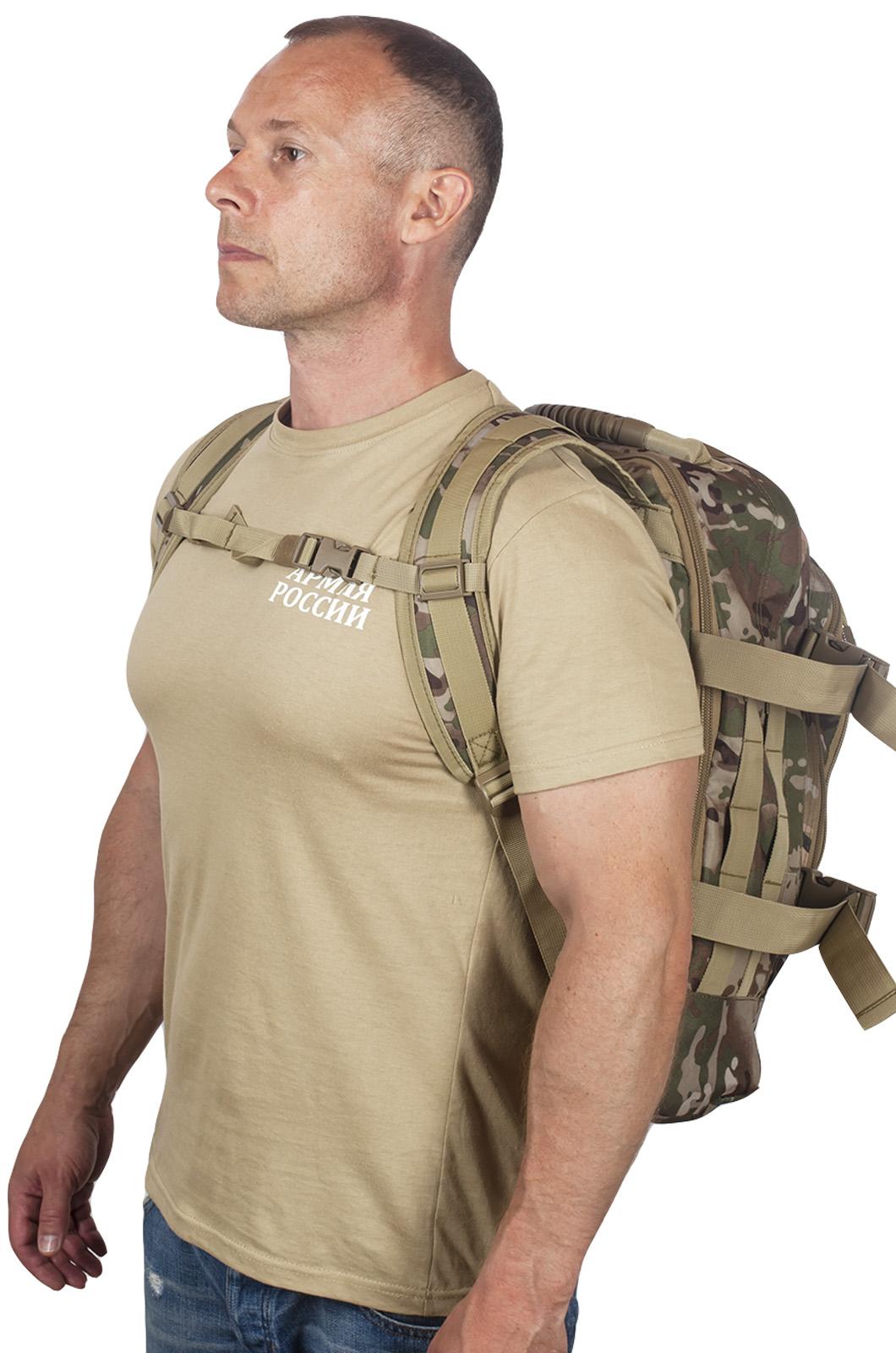 Камуфляжный рюкзак для охотника с нашивкой Ни Пуха ни Пера - купить в подарок
