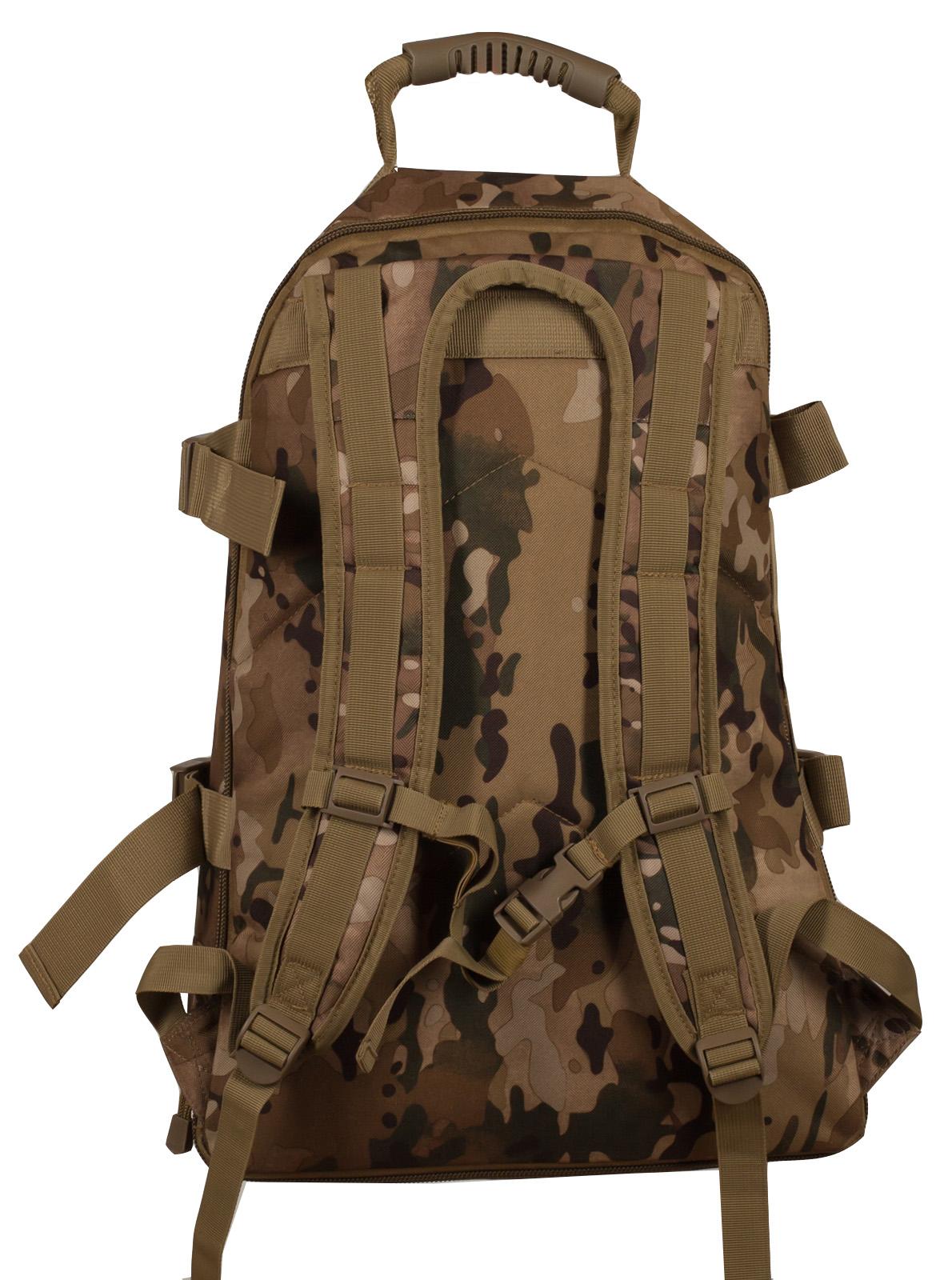 Камуфляжный рюкзак для охотника с нашивкой Ни Пуха ни Пера - купить в розницу