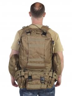 Военный штурмовой рюкзак с подсумками (45 литров, койот)