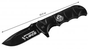 Военный складной нож с символикой Погранвойск заказать в Военпро