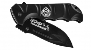 Военный складной нож с символикой Погранвойск.