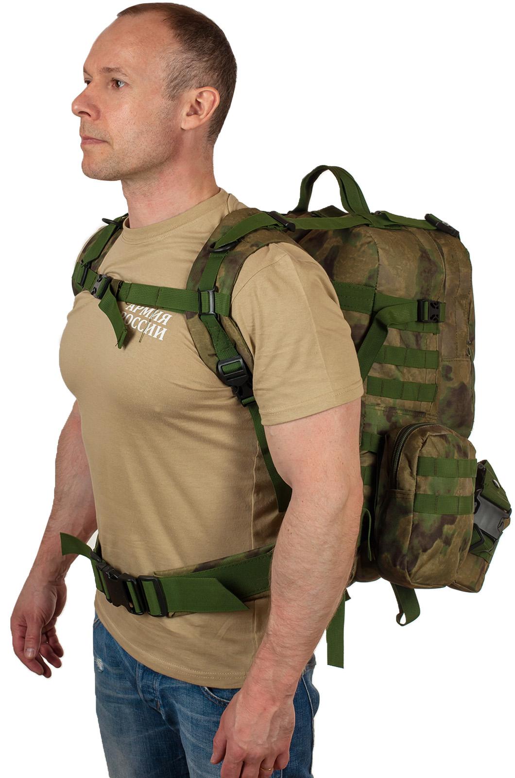 Военный вместительный рюкзак-трансформер с нашивкой Танковые Войска - заказать в подарок