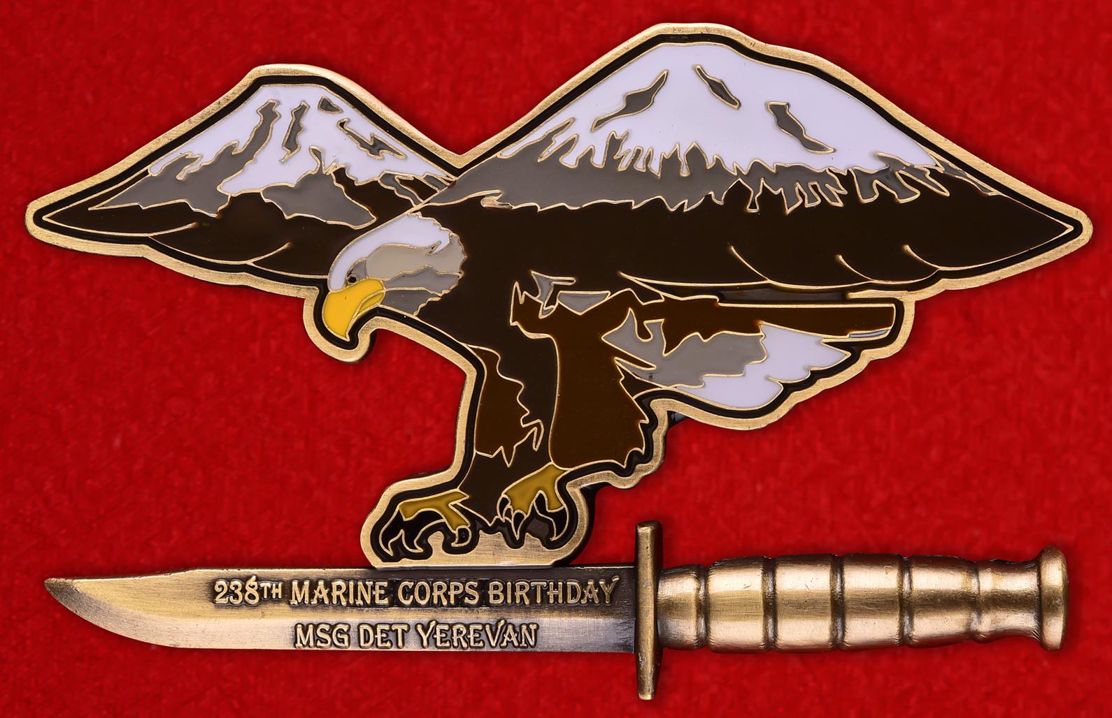 """Военный знак США """"238 лет Корпусу Морской пехоты"""""""