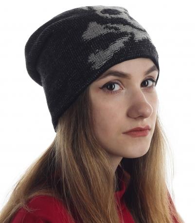 Всесезонная шапка с черепом - эксклюзивная серия для супер-девчонок!