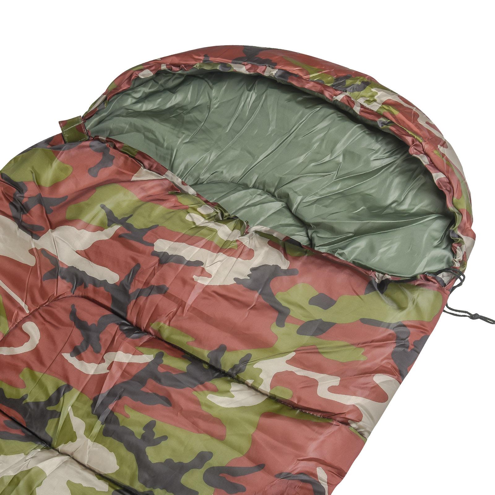 Походный спальный мешок расцветки хаки