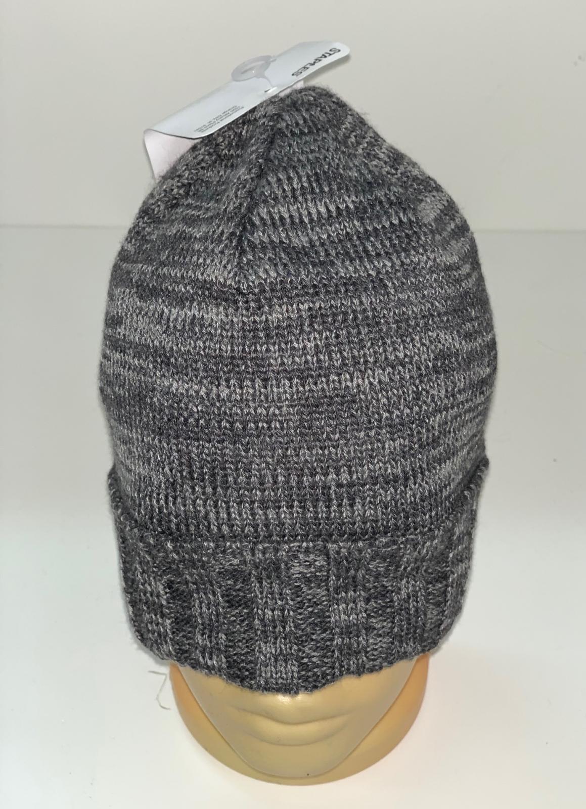 Вязаная меланжевая шапка серого цвета