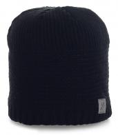 Вязаная мужская шапка Home на флисе. Очень теплая модель, в которой никакие холода не страшны