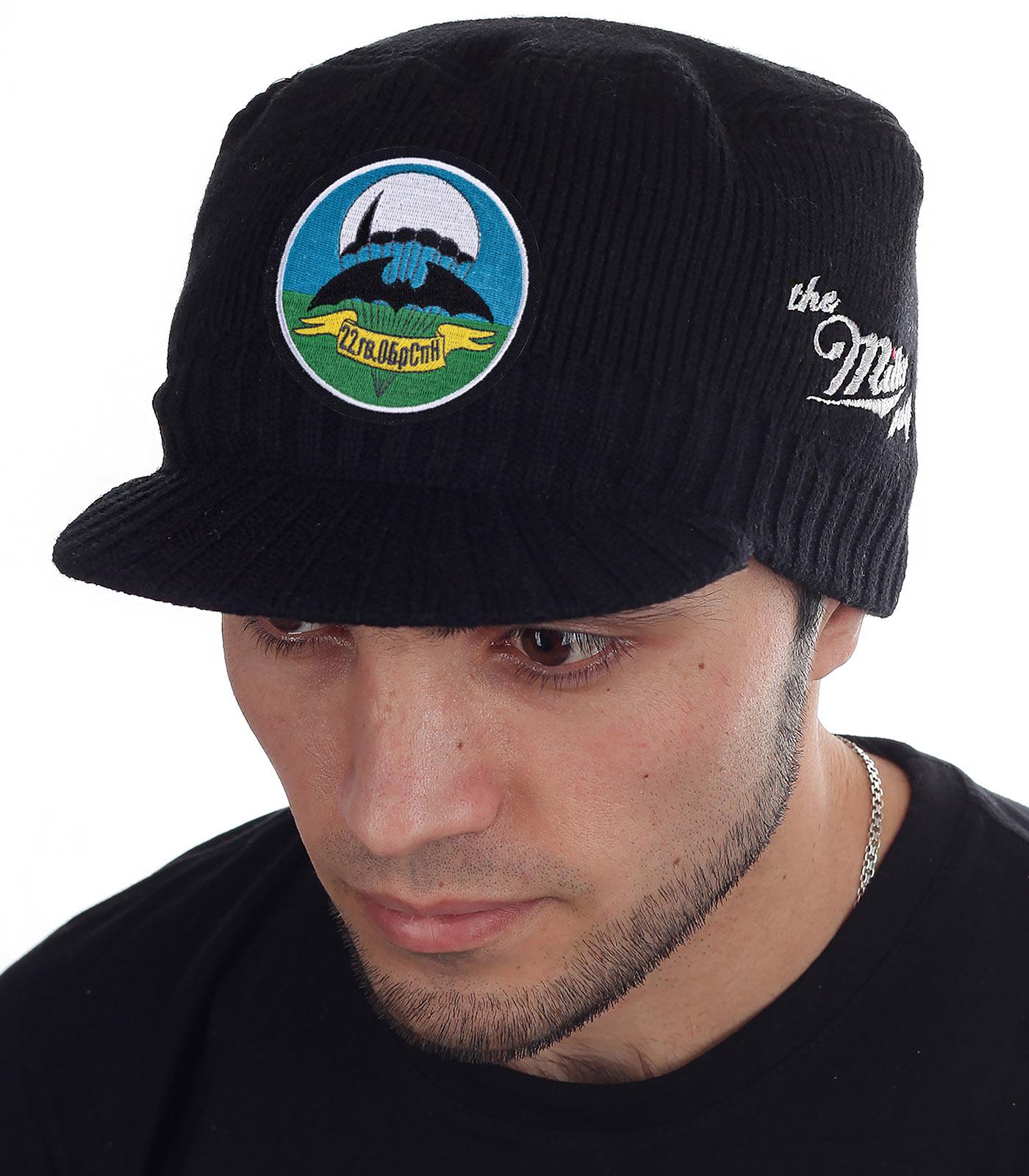 Вязаная мужская шапка с козырьком Miller Way по выгодной цене