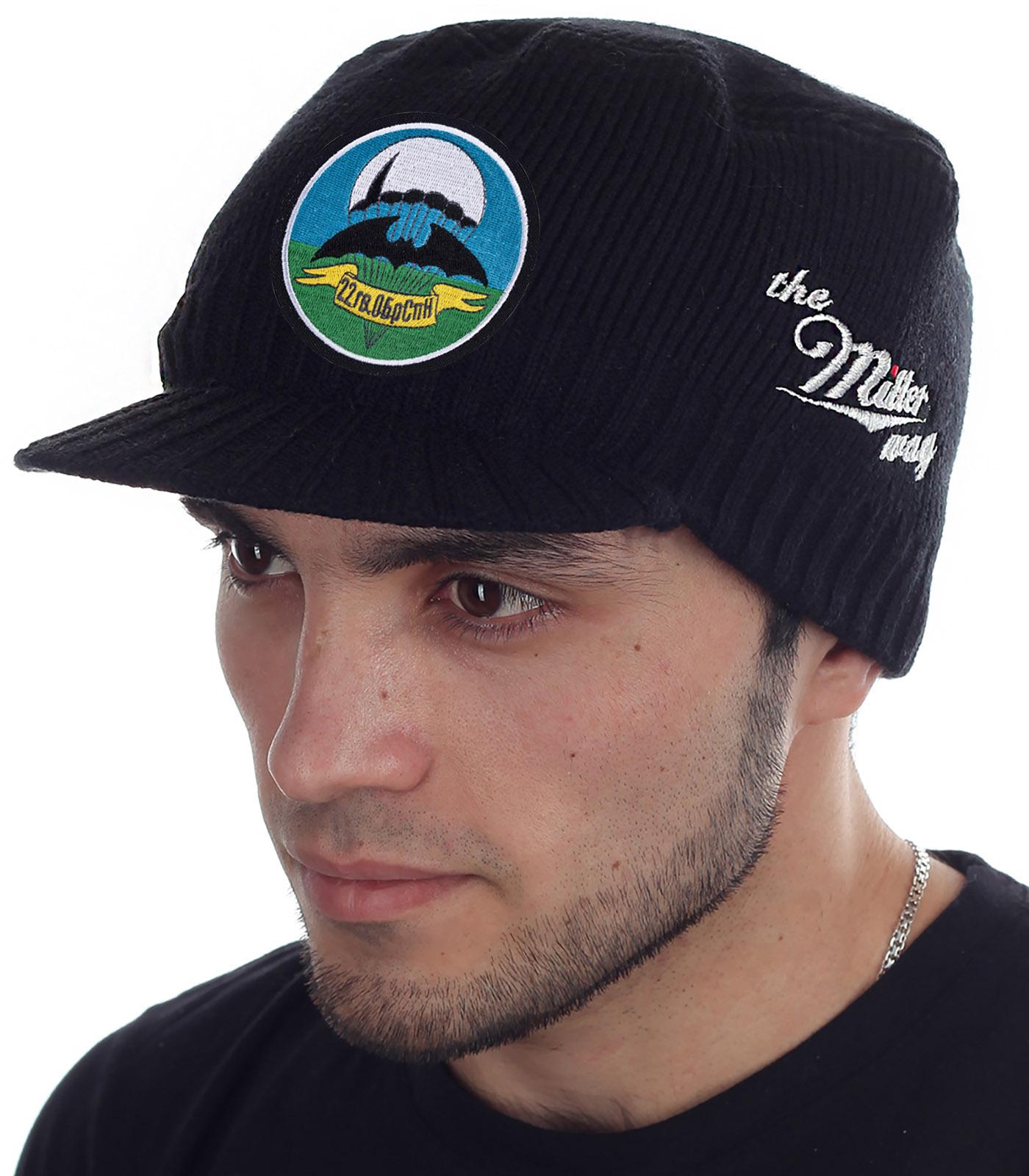 Вязаная мужская шапка с козырьком Miller Way