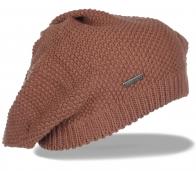Вязаная шапка-беретка Element для девушек. Нежная и удобная модель, которая надежно согреет и подарит комфорт