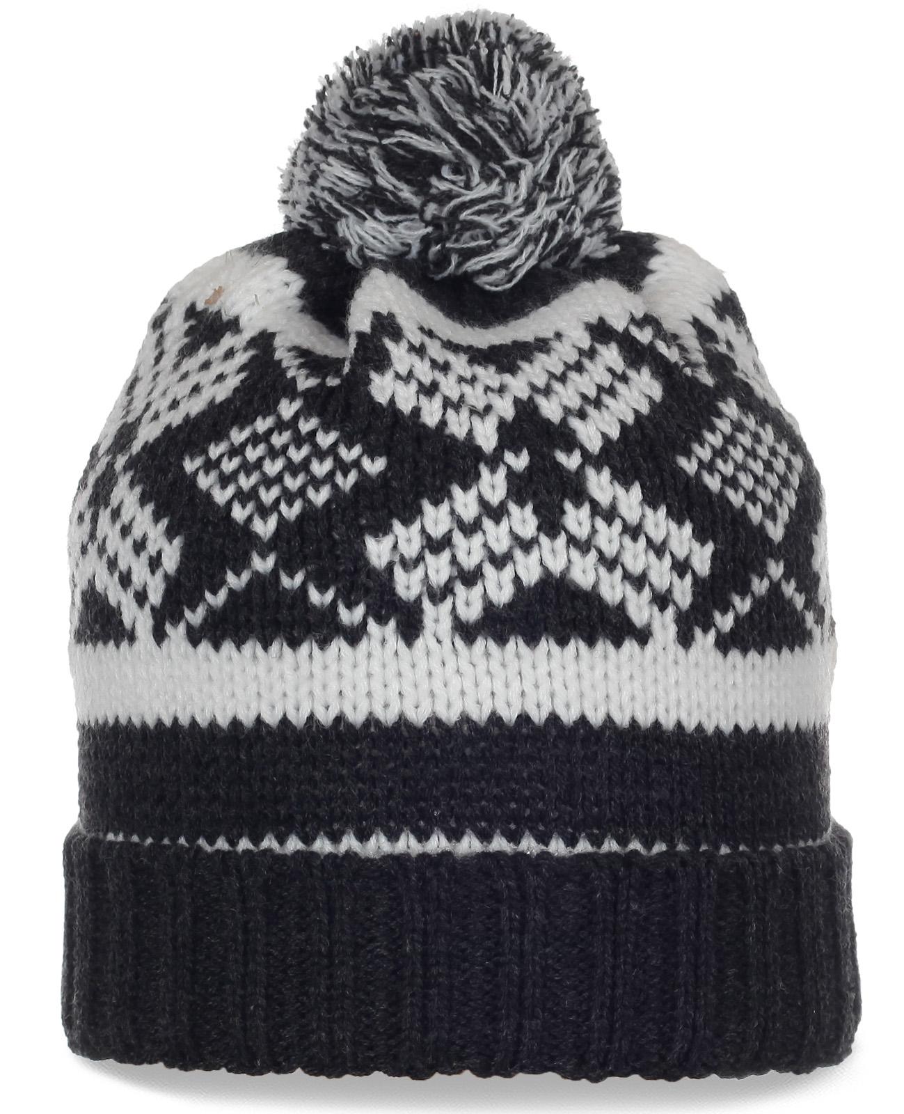 Вязаная шапка с помпоном для спортивных девушек. Безупречная модель, в которой тепло и удобно ВСЕГДА!