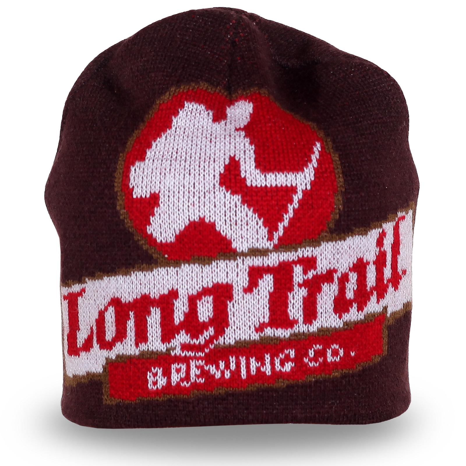 Вязаная шапка с рисунком и надписью Long Trail