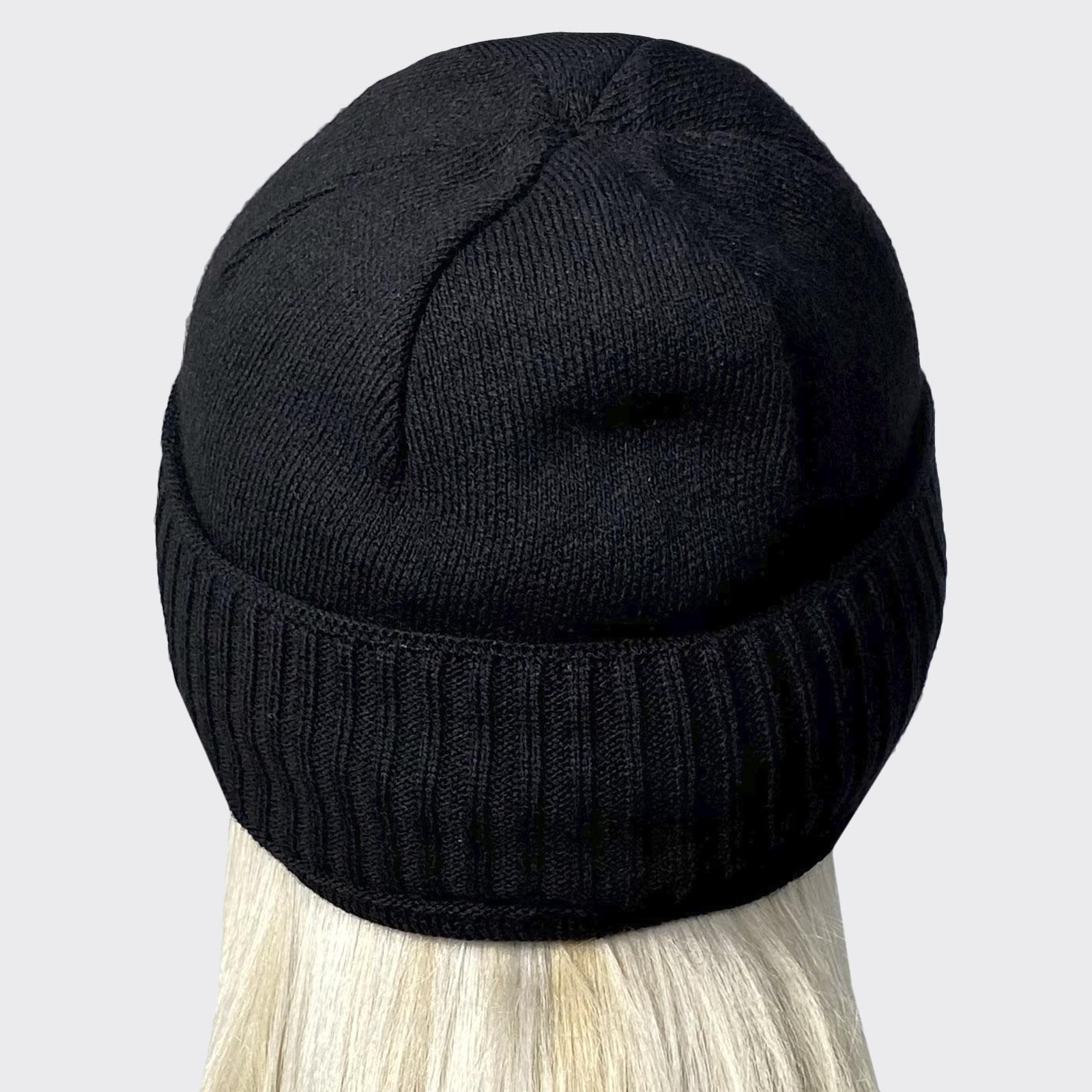 Вязанная шапка с нашивкой МЧС России - недорого с доставкой