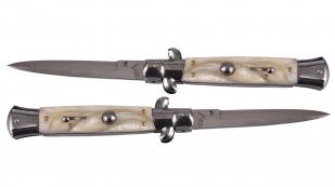 Выкидной нож AKC Italy - рукоять слоновая кость
