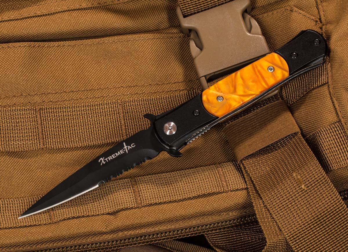 Выкидной нож Xtreme-Tac XT466-OR - заказать с доставкой