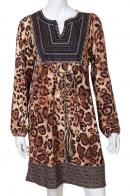 Выразительная леопардовая туника с декором