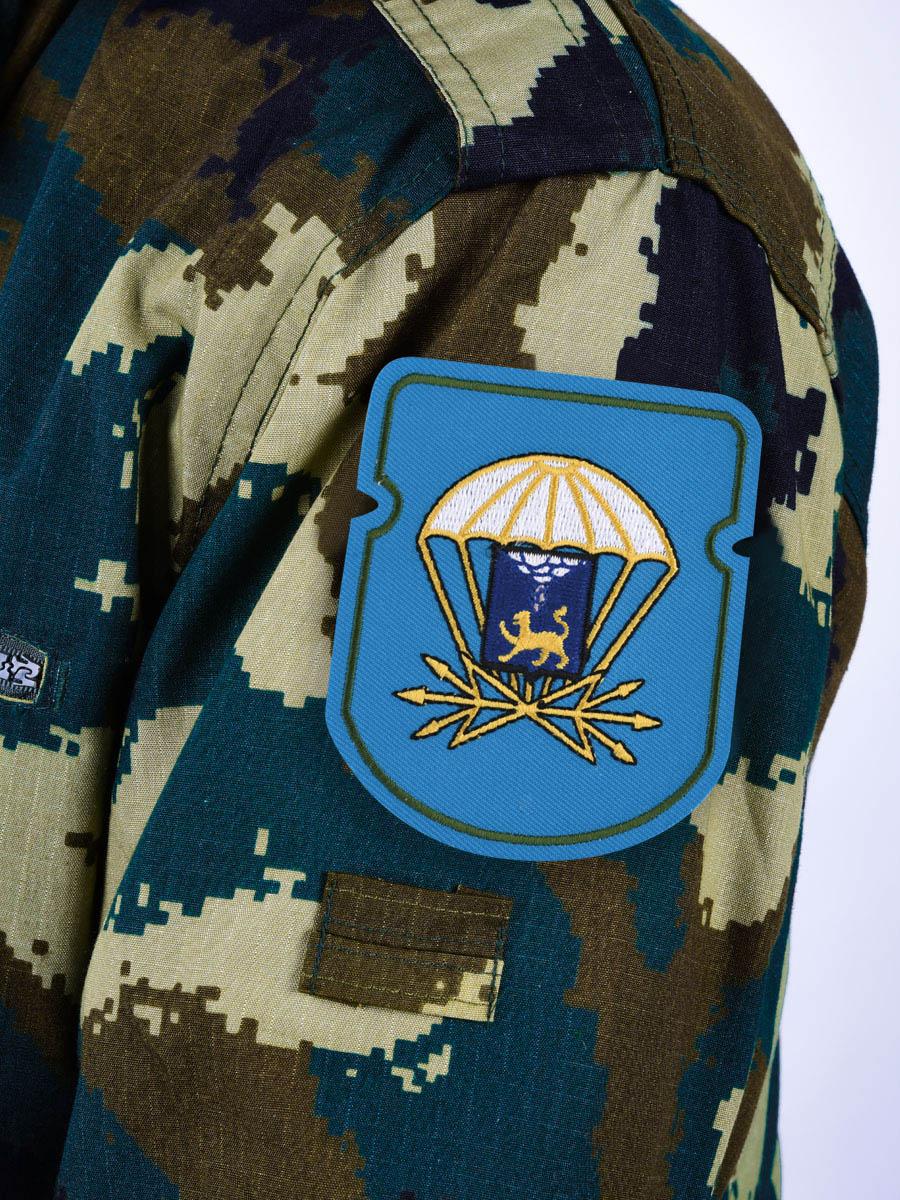 """Вышитый шеврон """"728 отдельный батальон связи 76 ДШД"""""""