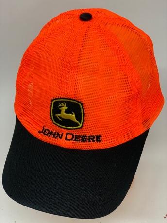 Яркая бейсболка-сетка с нашивкой John Deere