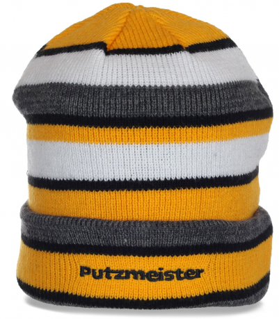 Яркая демисезонная мужская шапка Putzmeister