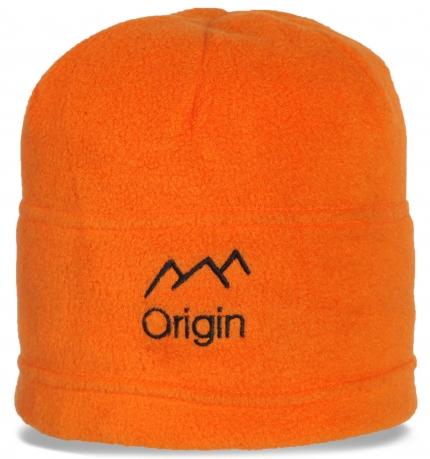 Яркая флисовая шапка бини Origin с флисовой подкладкой. Согреет и украсит в любую непогоду по самой лучшей цене