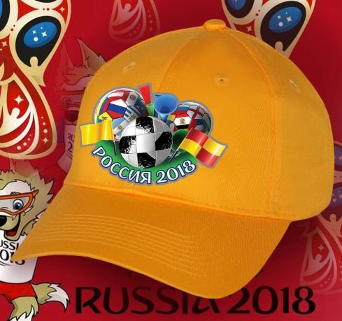 Яркая кепка Россия для футбольных фанатов.